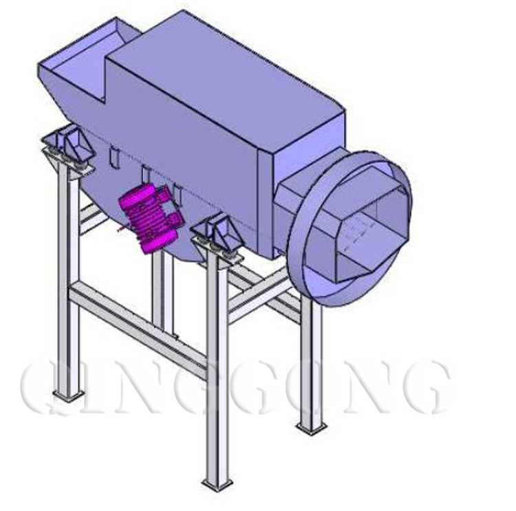 continuous tumble pass-through shot blasting machine 2