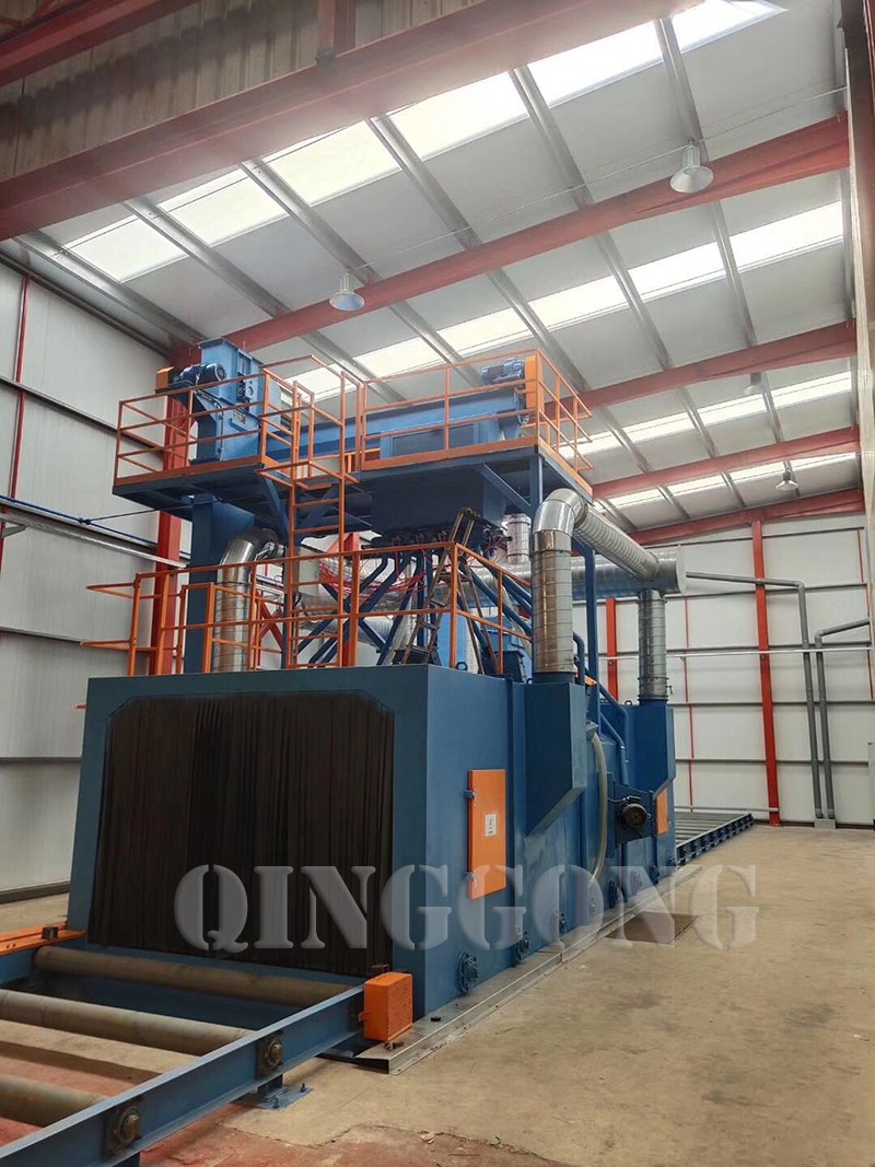 shot blasting machine designed by QINGGONG Machinery